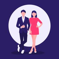 Cheerful Confident Business Couple vector
