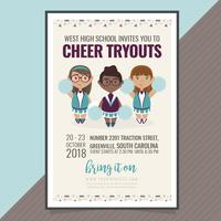 vector cheer try-outs poster