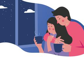 Cozy Settings Vector Illustration