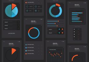 Charts UI Kit Mobile Elementsatz