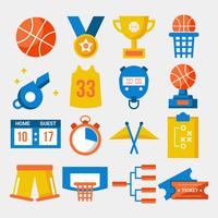 Basketbal Element collectie Vector