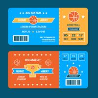 Basketball Ticket Vector