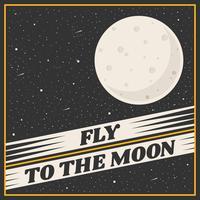 Vecteur d'affiche de voyage lune