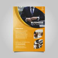 Flat Modern Minimalist Business Flyer Template