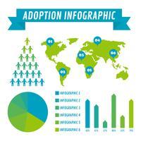 Vectores de conciencia de adopción internacional únicos