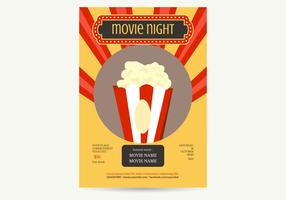 Movie Night Poster Vector Illustration