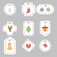 Super Cute Christmas Gift Tags vector