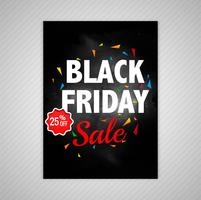 Abstract Black friday brochure sale template vector illustration