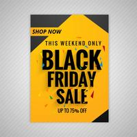 Creative Black friday brochure sale template background