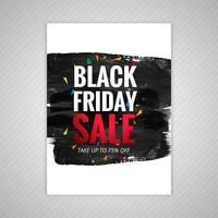 Beautiful Black friday sale brochure template design