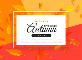 autumn sale banner with promotional details