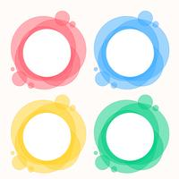 colorful set of circle round frames