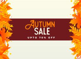 autumn sale background with orange leaves