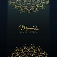 dark background with golden mandala decoration
