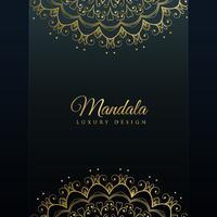 dark background with golden mandala decoration