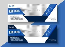Diseño de banner corporativo azul para su negocio.
