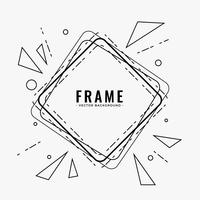 abstract line frame design background