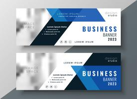 blue business professional banner with image space