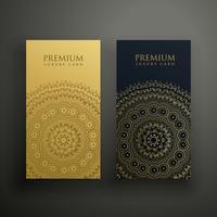 design de cartão de visita superior da mandala