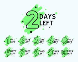 aantal resterende dagen-tags