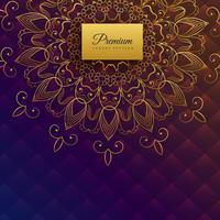 design de cartão premium mandala étnica