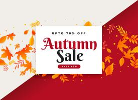 autumn sale and promotional banner with leaves