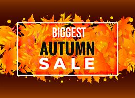 autumn sale poster banner design
