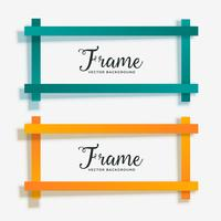 set of empty geometric frame banner