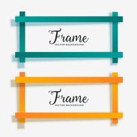 set of empty geometric frame banner