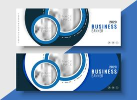modern blue business banner for your brand