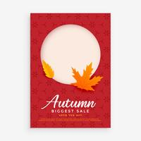 autumn sale flyer design with space for image or text