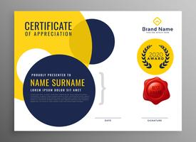 modern diploma certificate of appreciation design