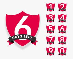 number of days left badge design