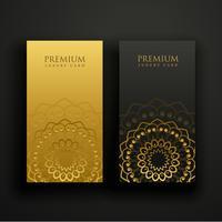 design de cartão de visita de mandala de luxo