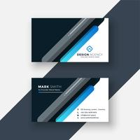 professional dark business card in creative style