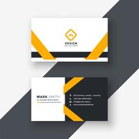elegant yellow business card template