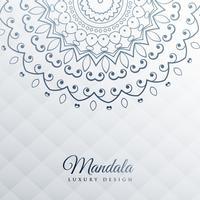 grauer Hintergrund mit Mandala-Dekoration