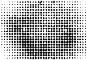 Vector Black Halftone Background