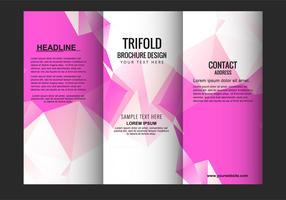 Folheto de três dobras moderno de vetor