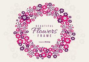 Schöner purpurroter und rosafarbener Blumenrahmen