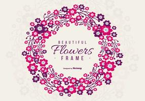 Beautiful Purple and Pink Floral Frame
