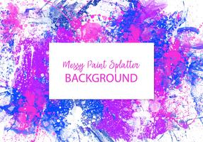 Colorful Messy Paint Splatter Background
