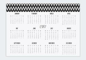Decorative 2017 Calendar