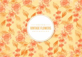 Vintage Orange Flower Background