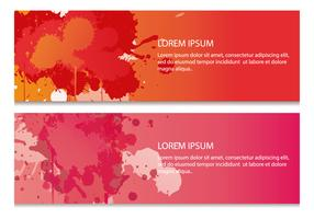 Red Painted Splatter Web Banners