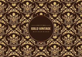 Fundo de padrão vintage ouro