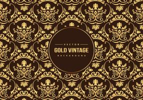 Gold Vintage Pattern Background