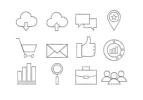 Schetsmatig Seo Icon Collection