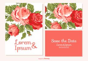 Floral Wedding Set with Save the Date and RSVP Card
