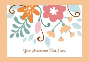 Beautiful Floral Background Template